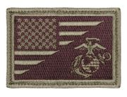 US Flag USMC Globe and Anchor Hook and Loop Morale Patch