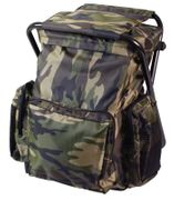 Woodland Camouflage Backpack and Stool Combo Pack