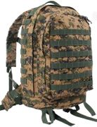 Rothco Tactical MOLLE II 3 Day Survival Gear Assault Pack in Woodland Digital Marpat Camo 41129