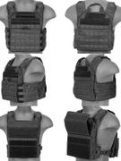 Lancer Tactical Airsoft MilSim SAPC Speed Attack Plate Carrier with Removable Shoulder Pads and Removable Cummerbund in Black CA-313B