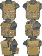 Lancer Tactical Airsoft MilSim SAPC Speed Attack Plate Carrier with Removable Shoulder Pads and Removable Cummerbund in Modern Land Camo CA-313CN