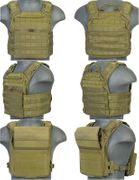 Lancer Tactical Airsoft MilSim SAPC Speed Attack Plate Carrier with Removable Shoulder Pads and Removable Cummerbund in OD Green CA-313G