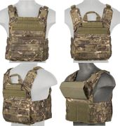 Lancer Tactical Airsoft MilSim SAPC Speed Attack Plate Carrier with Removable Shoulder Pads and Removable Cummerbund in Tropic Camo CA-313MT