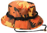 Rothco Military Style Cotton Polyester Savage Fire Orange Camouflage Boonie Hat