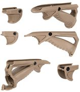 Ergonomic AFG Angled Foregrip with Tactical Thumb Grip / Stop Support & Battery Compartment in Tan for Airsoft Guns