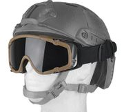 Airsoft SI Ballistic Goggles for FAST Helmets Two Lenses Included in Tan