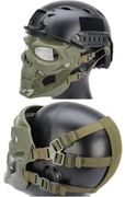 Terminator Cyborg Skull Airsoft Messenger Mask Eye and Face Protection in OD Green