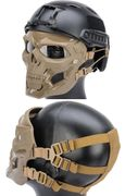 Terminator Cyborg Skull Airsoft Messenger Mask Eye and Face Protection in Tan