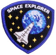 Space Explorer Shuttle Hook and Loop Morale Patch
