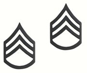 Staff Sergeant Rank Subdued Brass Pin Military Insignia
