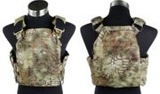 Airsoft MilSim Strandhogg Style Cut Tactical Plate Carrier Vest in MAD Scorpion Camo