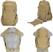 Tan 600D Polyester Lancer Tactical EDC FAST MOLLE Pack Backpack CA-353T