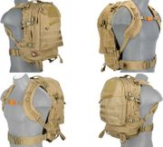Lancer Tactical 600 Denier 3 Day MOLLE Assault Pack Backpack in Tan CA-352T