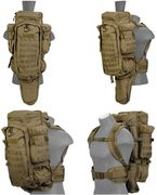 Lancer Tactical Escape and Evasion Survivalist Rifle Carry Pack Backpack in Tan CA-356T