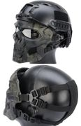 Terminator Cyborg Skull Airsoft Messenger Mask Eye and Face Protection in Black MultiCam