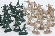 WWII Toy Army Men Tactical Assault Warrior Play Set