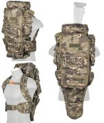 Lancer Tactical Escape and Evasion Survivalist Rifle Carry Pack Backpack in Tropical Camo CA-356MT