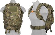 Lancer Tactical 600 Denier 3 Day MOLLE Assault Pack Backpack in Tropical Camouflage CA-352MT