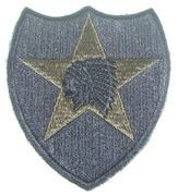 U.S. Army 2nd Infantry Division Indian Head Patch