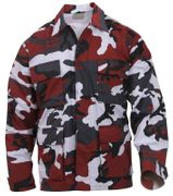 Rothco BDU Battle Duty Uniform Shirt in Violent Blood Red Fashion Camouflage 7913