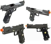WE-Tech 5.1 V4 1911 Hi-Capa Airsoft Gun CO2 Blowback Training Pistol with Spare Mag