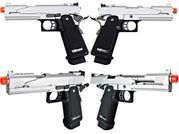 WE-Tech 5.1 V5 Chrome 1911 Hi-Capa Airsoft Gun Gas Blowback Training Pistol