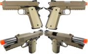 WE-Tech 4.3 S-Type Dark Earth Tan 1911 Airsoft Gun Gas Blowback Pistol with TWO Mags