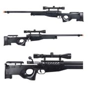 Well Type 96 L96 AWP Bolt Action Airsoft Sniper Rifle with Fluted Bolt Carrier with Scope in Black MB15
