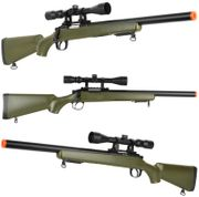 Well VSR-10 M700 Crawling Bolt Action Airsoft Sniper Rifle with Scope in OD Green MB02