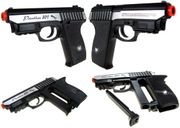 WinGun Silver Panther P-801 Metal CO2 Blowback Airsoft Gun Pistol with Built in Laser Pointer