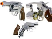 WinGun G731 Metal CO2 Powered Private Detective Style Airsoft Gun Revolver in Silver Chrome CNB-731S