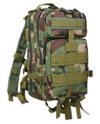 Rothco Medium Size Tactical MOLLE Survival Gear Transport Pack in Woodland Camouflage 2579