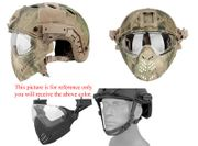 Maritime PJ Style ATH Tactical Piloteer Bump Helmet Face Mask with Adapter in ATFG Camouflage