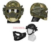 Maritime PJ Style ATH Tactical G4 Bump Helmet System with Face Mask and Goggles in ATFG Camo