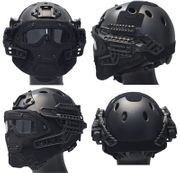 Maritime PJ Style ATH Tactical G4 Bump Helmet System with Face Mask and Goggles in Black