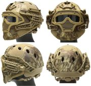 Maritime PJ Style ATH Tactical G4 Bump Helmet System with Face Mask and Goggles in HLD Camo