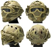 Maritime PJ Style ATH Tactical G4 Bump Helmet System with Face Mask and Goggles in MAD Camo