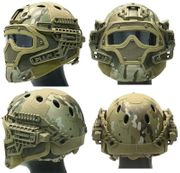 Maritime PJ Style ATH Tactical G4 Bump Helmet System with Face Mask and Goggles in Modern Land Camo