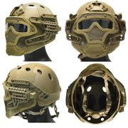 Maritime PJ Style ATH Tactical G4 Bump Helmet System with Face Mask and Goggles in Tan