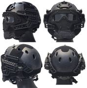 Maritime PJ Style ATH Tactical G4 Bump Helmet System with Face Mask and Goggles in TYP Typhoon Camo