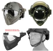 Maritime PJ Style ATH Tactical Piloteer Bump Helmet Face Mask with Adapter in Gray