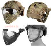Maritime PJ Style ATH Tactical Piloteer Bump Helmet Face Mask with Adapter in MAD Camo