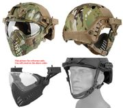 Maritime PJ Style ATH Tactical Piloteer Bump Helmet Face Mask with Adapter in Modern Land Camouflage