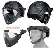 Maritime PJ Style ATH Tactical Piloteer Bump Helmet Face Mask with Adapter in TYP Typhoon Camo