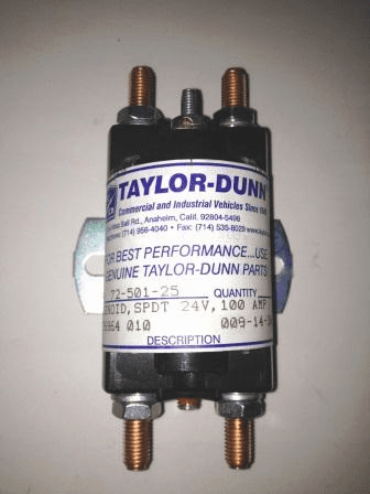 Taylor-Dunn Solenoid, Single Pull Double Throw 24V,100 AMP - 72-501-25
