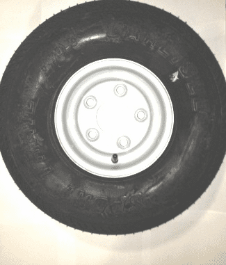 Taylor-Dunn Tire, Wheel 5.70 x 8 Load Range C, HT, 5 Hole - 13-742-13