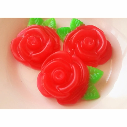 15 Large Valentine's Day Rose Soap Favors