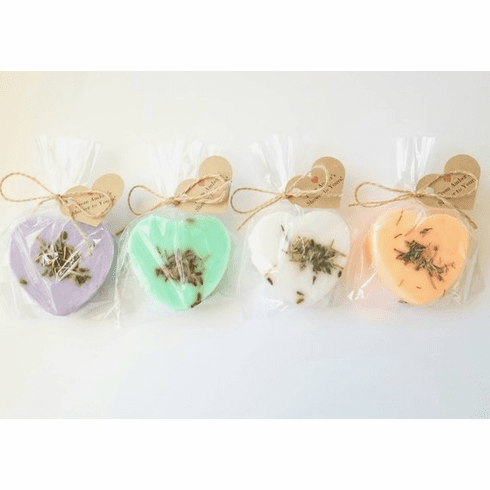 20 Assorted Rustic Soap Heart Favors