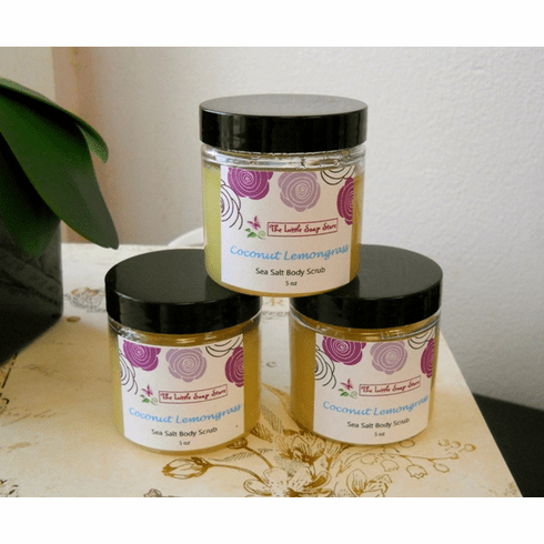 Coconut Lemongrass Sea Salt Scrub 6 oz