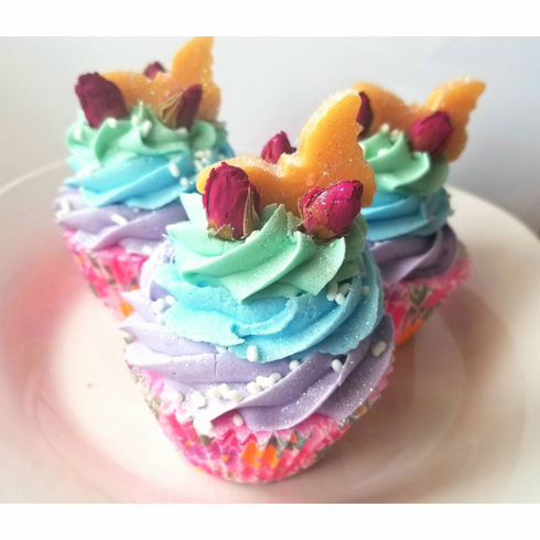 Golden Butterfly Bathbomb cupcake
